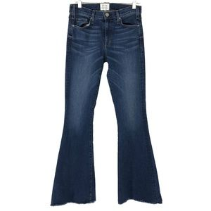 McGuire Majorelle Jeans Flare Raw Hem Cotton Blend
